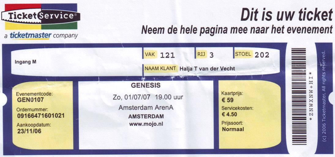 Genesis Live - Lyon FR - 12.07.07